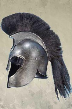 Troy Achilles Greek Helmet - Epic Dark Metal