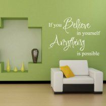 """Believe in Yourself"" #homeoffice wall quote!"