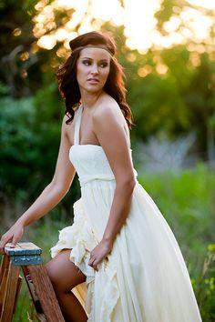 Wedding dress - Strapless Ruffled beach bohemian Wedding Gown- Bohemia. $750.00, via Etsy.