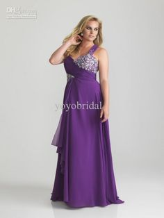 1b0baea7407 Plus Size 2013 Purple Yellow One shoulder Chiffon EmpireEvening Dress Prom  Party Formal Dresses Gown Plus