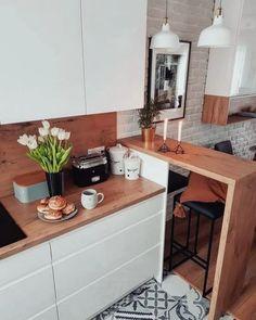 Southern Home Interior Small Kitchen Design Ideas Small Apartment Kitchen, Home Decor Kitchen, Interior Design Kitchen, Home Kitchens, Kitchen Ideas, Home Interior, Room Kitchen, Kitchen Living, Small Kitchen Designs