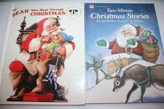 Lot of 2 Christmas Vintage Holiday Books Two Minute Christmas Stories