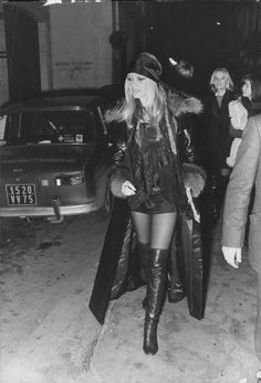 "missbrigittebardot: ""Brigitte Bardot in thigh-high boots "" Brigitte Bardot, Bridget Bardot, Celebrity Boots, Celebrity Style, Evolution Of Fashion, French Girls, Vintage Boots, Black And White Design, Thigh High Boots"