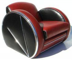 Art Deco Chair, Art Deco Furniture, Funky Furniture, Furniture Design, Painted Furniture, Furniture Ideas, Bedroom Furniture, Victorian Furniture, Modular Furniture