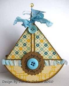 Daniel Dobson - sailboat shaped card #cardmaking #craft