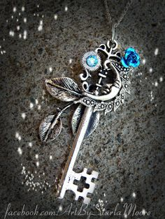 Goddess of the Moon Key Sky Crystal by ArtbyStarlaMoore on Etsy, $17.00