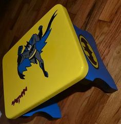 Batman Step Stool / Chair. Cute And Personalized With Your Childs Name