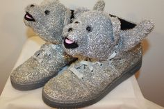 NEW ADIDAS JEREMY SCOTT JS  SILVER TEDDY BEAR SHOES SIZE 6 7 7.5 9 9.5 10 12 #adidas #AthleticSneakers