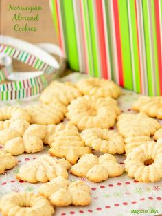 Norwegian Almond Cookies are lightly sweet and perfect for holiday gifts.