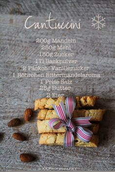 Cantuccini - Last minute DIY! Delicious Cake Recipes, Yummy Cakes, Sweet Recipes, Fudge Brownies, Homemade Vanilla, Homemade Chocolate, Nutella Gifts, Lemon Biscotti, Nutella Cupcakes