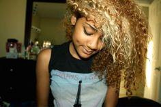 blonde. #curlyhair