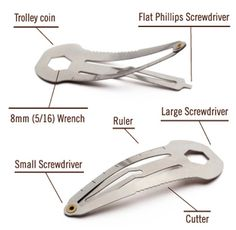 Hair clip with multiple functions.