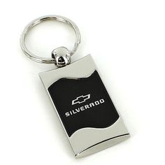 #Chevy silverado #black spun #brushed metal key ring,  View more on the LINK: http://www.zeppy.io/product/gb/2/401010068825/
