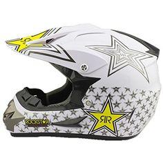 Larcele Blanc Casque de moto cross Dirt Bike SDYYK-01 (M): Matériel de casque: ABS. 2 évents arrière font une meilleure circulation de…