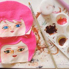 Pink!  #mandarinasdetela #wip #painting