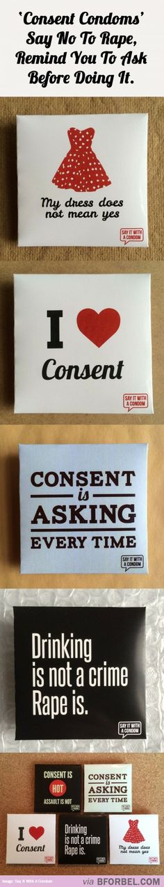 Consent Condoms That Say No To Rape…
