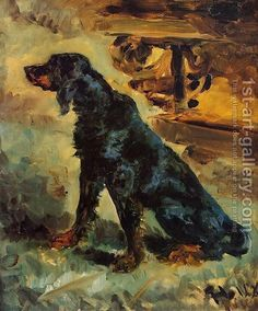 henri toulouse lautrec was also painting dogs, a gordon setter