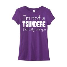 Not a Tsundere Shirt Cute Anime Tee Pastel Grunge Kawaii T-Shirt Otaku... ($20) ❤ liked on Polyvore featuring tops, t-shirts, shirts, checkered t shirt, grunge t shirts, gothic t shirts, tee-shirt and screen print shirts