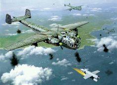Dornier Do217, Luftwaffe above Anzio, Italy 1944