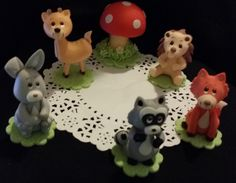 Woodland Animal Cake Toppers, Woodland Decorations For Baby Shower, Woodland Birthday Decorations, Woodland Baby Shower