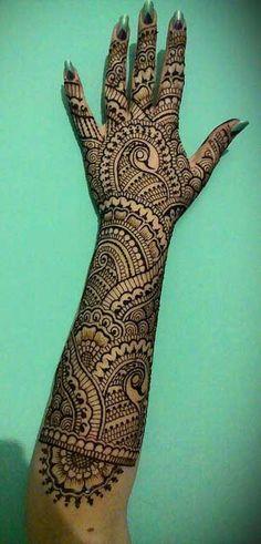 Full Arm Peacock Henna Designs