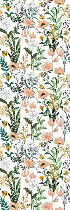 Stapleford Removable Beautiful Floral 10' L x 25