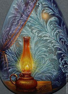 Купить Уютная Зима...(ОТЛОЖЕНО) - комбинированный, лаковая миниатюра, лаконичное украшение, кулон, роспись по камню
