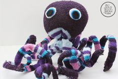 Sock Octopus craft - It would be easy to get socks at the dollar store for this! Sock Crafts, Vbs Crafts, Crafts For Kids, Arts And Crafts, Class Art Projects, Sewing Projects For Kids, Craft Projects, Craft Ideas, Octopus Crafts