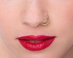 Gold Nose Ring Indian Nose Ring Nose Hoop Tragus by StudioMeme