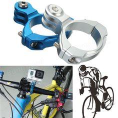 Aluminum 31.8mm Bike Handlebar Mount Clamp For Gopro SJcam XiaoMi Yi Camera Sale-Banggood.com