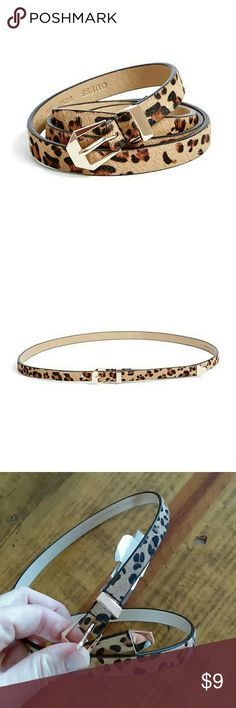 """Guess Vegan Leopard Faux-Haircalf Belt Super cute belt!   Faux-haircalf belt features adjustable buckle closure.  0.5"""" widthSits at hipsMaterial: Synthetic Guess Dresses"""