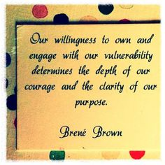 Brene Brown has saved my life these past few months.  If you can, watch her TED talks...ted.com