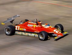 Gilles Villeneuve Ferrari 126 Ferrari (t/c) 1982 United States Grand Prix West, Long Beach DSQ Illegal Rear Wing By Steven Hauptman Ferrari Racing, Ferrari F1, Le Mans, Sport Cars, Race Cars, Belgian Grand Prix, Car 15, Lotus Car, Gilles Villeneuve
