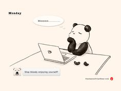 » Monday, 3pm. Still in my happy place. Panda and Polar Bear