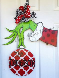 Check out this item in my Etsy shop https://www.etsy.com/listing/274640020/grinch-hand-holding-ornament-christmas