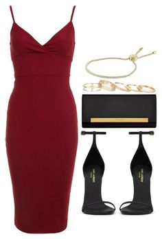 """Style #7821"" by vany-alvarado ❤ liked on Polyvore featuring Miss Selfridge, Yves Saint Laurent, Kendra Scott and Michael Kors"