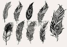 """Résultat de recherche d'images pour """"dessins de plumes d'oiseaux"""""""