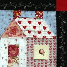 Lovely house block. These fabrics are a joy.