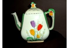 Art Deco China Tea Pot.R...