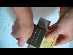 BORDER PUNCH:  This video shows how to use a border punch to make a square medallion.