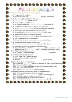 This worksheet contains 6 different tenses to talk about the future. Each tense has a short explanation + example sentences. Students need to complete the sentences with a suitable verb tense. English Grammar Test, English Worksheets For Kids, English Activities, English Lessons, Kids Worksheets, Preschool Activities, English Language, English Teaching Materials, Teaching English