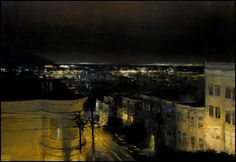 The Traditional Work of Jeremy Mann - Cityscapes Smart Art, Great Paintings, Landscape Art, Great Artists, Textile Art, Artsy Fartsy, Paris Skyline, Modern Art, Traditional