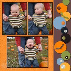 Fall fun scrapbook layout - page 2