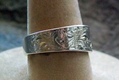 Etsy Western engraved ring
