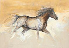 Contemporary equine study fine art Equestrian Art giclee print (Bottle Sketch Study)