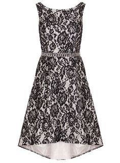 Dorothy Perkins Womens *Quiz Lace Diamante Dip Hem Dress- Black Lace dress with dipped hem and diamante waist. Length approx 86cm. 100% Polyester. Cool hand wash. Do not bleach, dry clean or tumble dry. http://www.MightGet.com/january-2017-13/dorothy-perkins-womens-quiz-lace-diamante-dip-hem-dress-black.asp