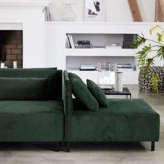 canapé vert velours