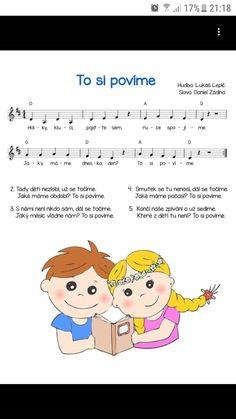 Kids Songs, Techno, Comics, Words, Character, Piano, Sheet Music, Songs For Children, Children Songs