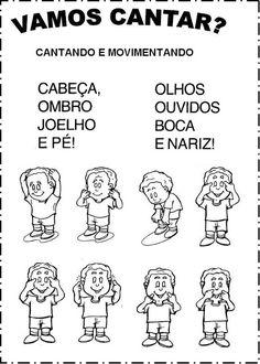 Educação Infantil: Cantigas escritas e ilustradas para pintar - Espaço Educar Curriculum, Homeschool, Music For Kids, Professor, Activities For Kids, Songs, Teaching, Writing, How To Plan