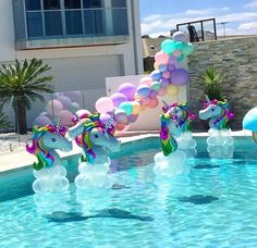Hot Unicorn Balloon Aluminum Foil - Pegasus Balloons for Kid Birthday Party Inflatable Decoration Photo Props- Party Unicorn, Unicorn Themed Birthday Party, Mermaid Birthday, Birthday Party Themes, Unicorn Balloon, 5th Birthday, Pool Party Decorations, Birthday Decorations, Party Ideas